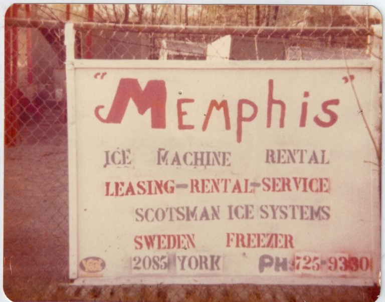 First Memphis Ice Business Sign